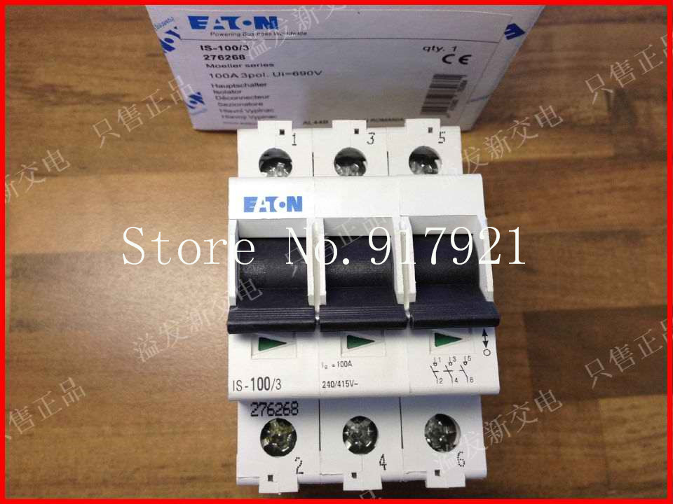 цена на [ZOB] EATON Eaton IS-100/3 3P100A import switch load switch disconnector safety switch