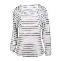 MYPF Women S New Fashion Casual Tops Female Long Sleeve Knitting Sweater Off Shoulder Sexy Striped