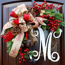 American style simulation Christmas Berry wreath Wall hanging Garland Front Door Wreath Housewarming Wedding decoration Gifts