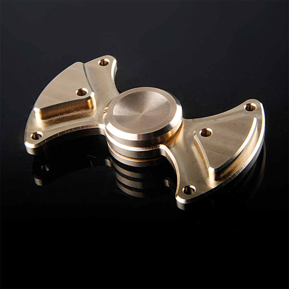 New Funny EDC Toy Metal Fidget Spinner Exocet Brass Hand Spinner For Autism and ADHD Quit Smoking Toy fiddle toy plastic soccer patterned fidget spinner