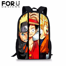 Cartoon Naruto Dragon Ball Backpack for Student Anime One Piece Printing School Bag Baby Boy Kids Bookbag Notebook Backpack 2019 how to train your dragon school bag noctilucous backpack student school bag notebook backpack daily backpack