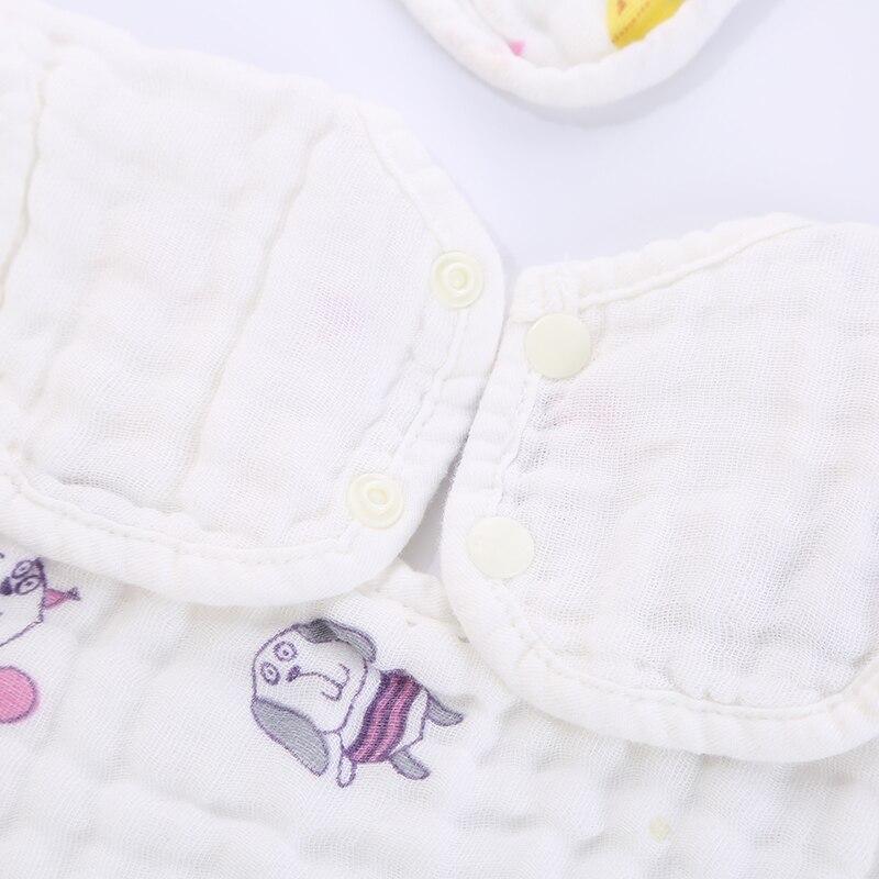 6 layer cotton gauze petals bib Baby 360 degree saliva towel Boy girl bib Infant feeding snoring clothes 28 28CM in Bibs Burp Cloths from Mother Kids