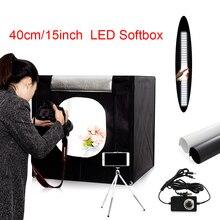 Freies schiff 40*40*40 cm tragbare LED foto studio Licht Zelt + 2 Backdrops + dimmer schalter fotografie zelt kit mini box foto box