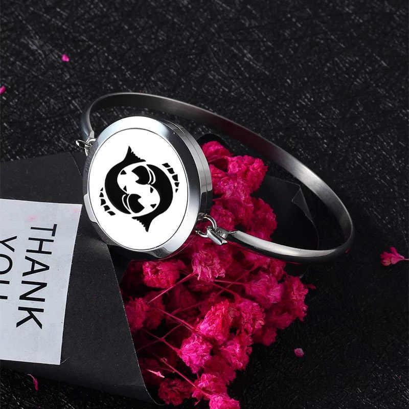 Novo Estilo da Mamã do Amor Aromaterapia Difusor do Óleo Essencial Perfume Medalhões Magnética Pulseira de Aço Inoxidável Pulseira Jóias Pulseira