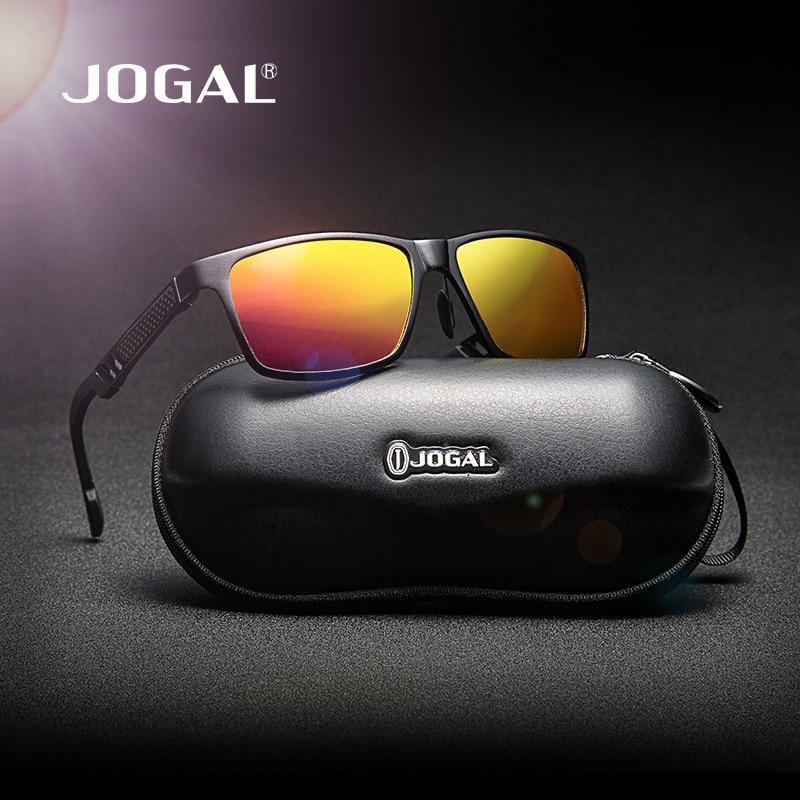 JOGAL HD Polarizado gafas de Sol de Los Hombres UV400 Marco de Fibra ...
