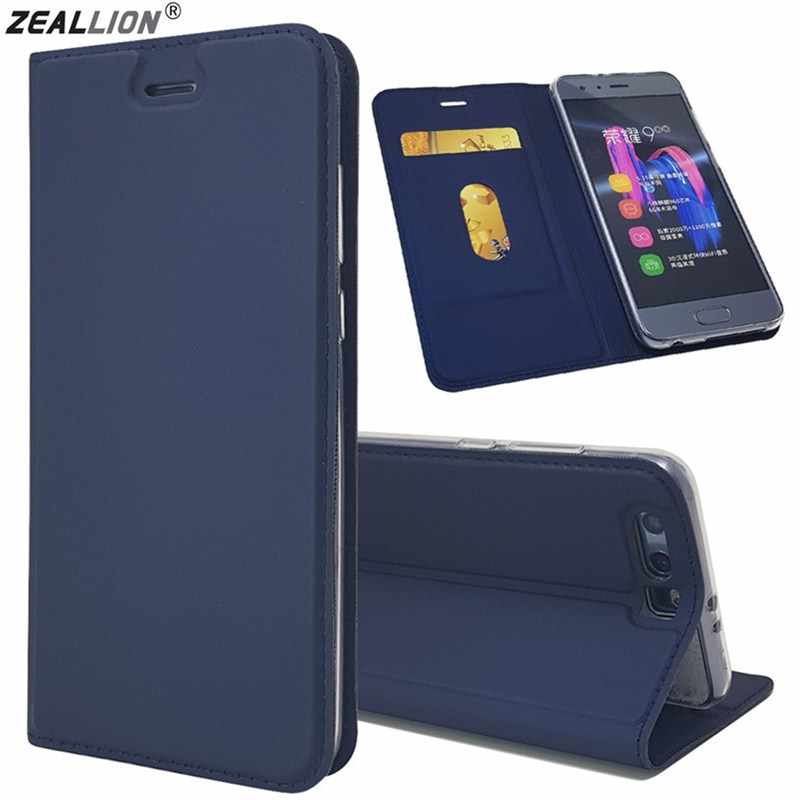 ZEALLION For Huawei Honor 6A 6X 8 9 V9 10 V10 Y5 Y6 Y9 2018 Enjoy 6 7 Slim Magnetic Voltage Leather Wallet Flip Stand Case Cover