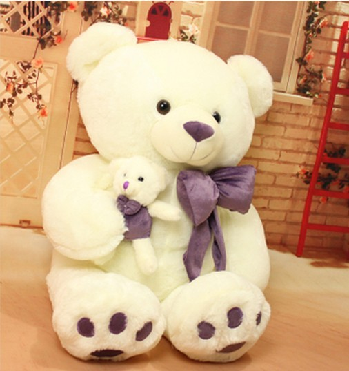 Free shipping 70cm  Teddy bear plush toy Love bear soft toy Gift for lover Christmas gift stuffed animal 120 cm cute love rabbit plush toy pink or purple floral love rabbit soft doll gift w2226