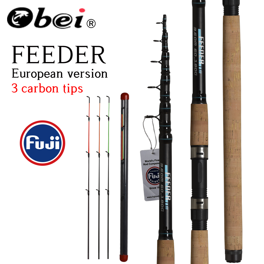OBEI Fishing Rod Telescopic Spinning Casting Travel 3.3 3.6m Vara De Pesca Carp