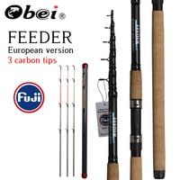 OBEI Feeder fishing rod telescopic spinning casting Travel Rod 3.3 3.6m vara de pesca Carp Feeder 60 180g pole
