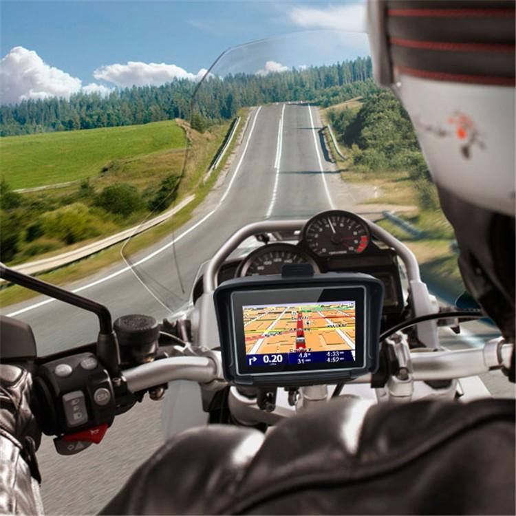 4.3 Waterproof IPX7 Motorcycle Bluetooth GPS Navigation MOTO Navigator with Free Maps 8G Flash for Car Motobike (3)