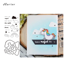 JC Metal Cutting Dies and Rubber Stamps for Scrapbooking Craft Angel Horse Stencil Die Cut Cards Making Album Model Decor
