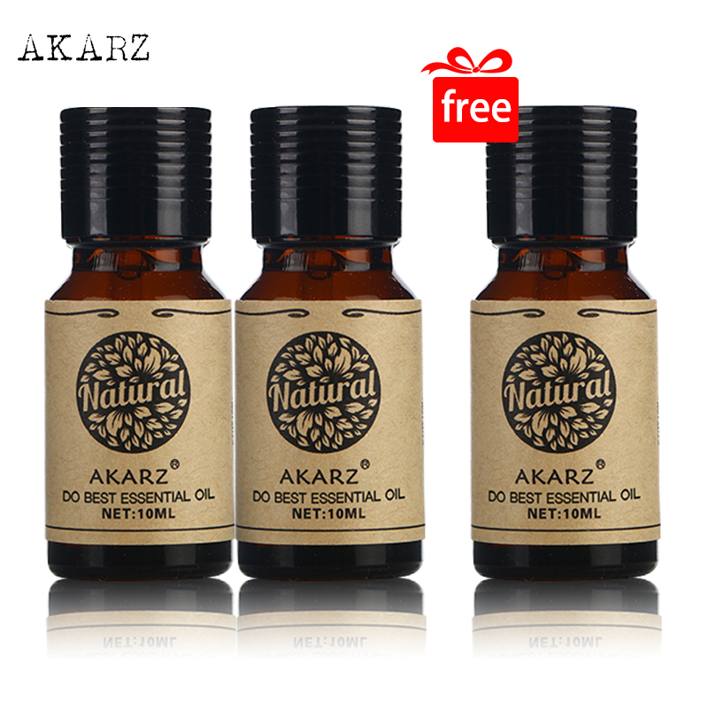 Buy 2 Get 1 AKARZ Best Set Meal Rose Essential Oil Aromatherapy Face Body Skin Care SPA Massage High Quality Rose Oil