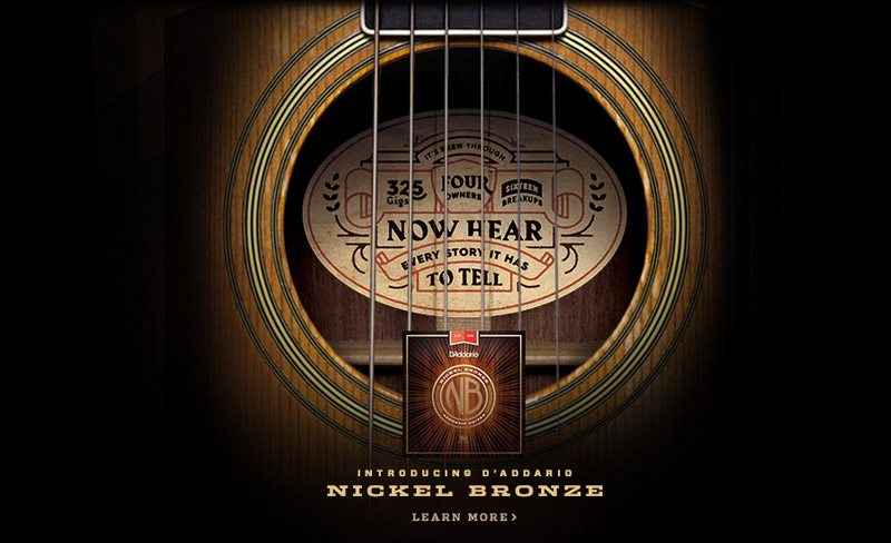 D'addario NB Nickel Bronze Acoustic Guitar Strings, Բոլոր 5 Մոդելներ, NB1047 NB1152 NB1253 NB1256 NB1356