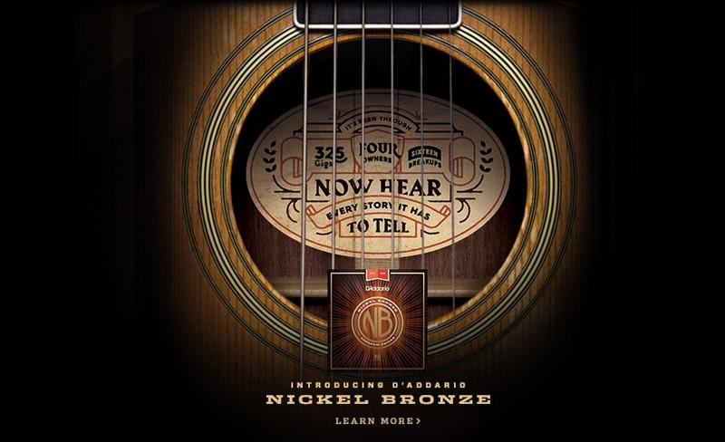 D'addario NB Nickel Bronze Acoustic Guitar Strings, All 5 Models, NB1047 NB1152 NB1253 NB1256 NB1356