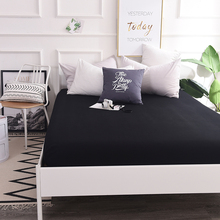 Custom 600TC Cotton Luxury Solid Fitted Sheet Bedsheet Bed Sheet With Elastic Band 1PCS Bedding Sheets 160×200 90×200 Black