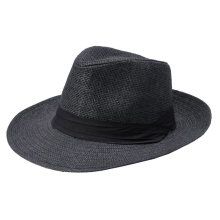 3266a212700 Fashion Men Women Panama Hat Contrast Color Straw Ribbon Pinched Crown  Rolled Trim Summer Floppy Hat
