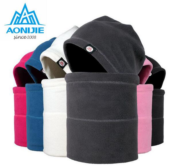 AONIJIE Men Women Double Layers Winter Hat Polyester Windproof Ski Mask Caps Cycling Win ...