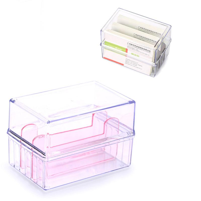 Plastic Transparent Cardboard Box Business ID Credit Card Holder ...