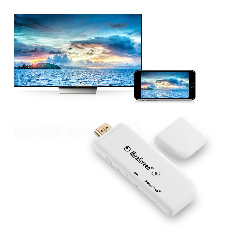 MiraScreen P8 TV Stick 2.4G/5G WiFi 1080P HD AM8252 Linux HDMI Miracast Airplay DLNA TV Dongle for Android//iOS/Windows TV Stick