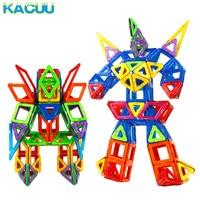 New 138PCS BIG Size Magnetics Block Set Constructor 3D DIY Magnet Designer Educational Toy For Kids