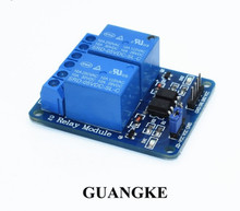 Fast ! Free shipping 10PCS/LOT New 5V 2 Channel Relay Module Shield  ARM PIC AVR DSP Electronic 10A