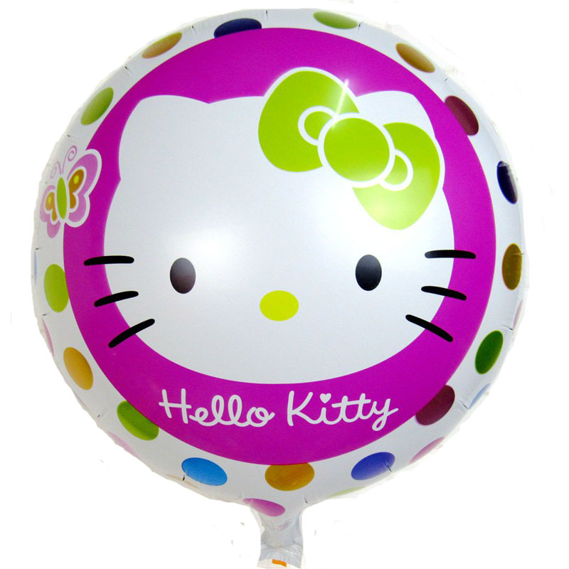 Lucky 50pcs/lot 45*45cm Round Hello Kitty Foil Balloons Inflatable Toys For Wedding Birthday Party Decorations Helium Balloon Pure Whiteness Event & Party Festive & Party Supplies