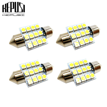 4X 31mm C5W festoon 3528 1210 SMD 12 LED Car Auto Dome Interior Map Lights Bulb Lamp for DC 12V white Car Styling waterproof 5 85w 312lm 39 smd 1210 led red car angel eye lights white dc 12v 120mm 2 pcs