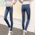 5022 # Denim Stretch Barriga calças de Brim de Maternidade Moda Outono Inverno Engrosse Quente Jeans Para Grávidas calças Mulheres Lápis calças de Brim da Gravidez