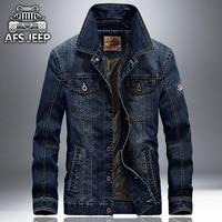 Plus Size 2017 New Fashion Men S Cotton Denim Jackets AFS JEEP Brand Man Jean Jacket