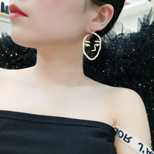 Abstract Art Drop Gold Earrings