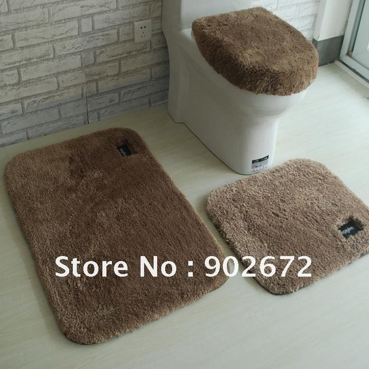 100% Acrylic Bathroom Rug Toilet Lid Set /Bath Mats/4 Piece Bath Rug Set,  Non Slip Back In Bathroom Accessories Sets From Home U0026 Garden On  Aliexpress.com ...