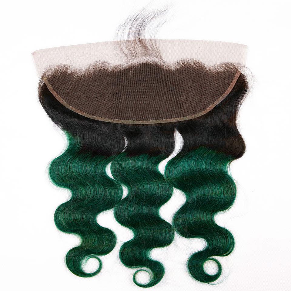teal body wave hair bundles with closure (3)