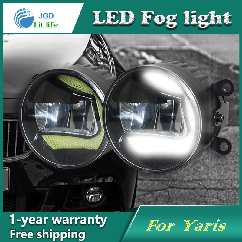 Super White LED Daytime Running Lights case For Toyota Yaris 2014 2015 Drl Light Bar Parking Car Fog Lights 12V DC Head Lamp new hot 12pcs cree chip leds daytime running lights led drl light bar parking car fog lights 12v dc head lamp for e70 x5 07 09