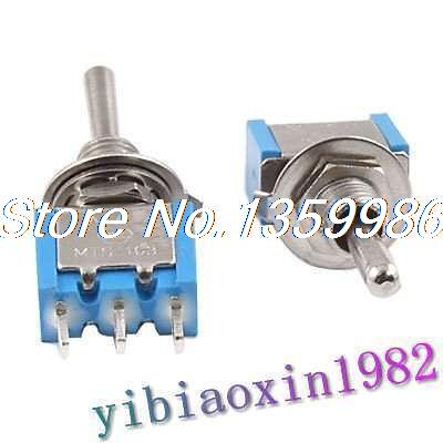 50Pcs 3A 250VAC 6A 120VAC ON/OFF/ON SPDT Miniature Toggle Switch 5 x on off small toggle switch miniature spst 6mm ac250v 3a 120v 5a