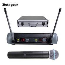 Betagear PXG24/58A профессиональный микрофон система караоке беспроводной супер кардиоидный PXG uhf микрофоны ручной микрофон