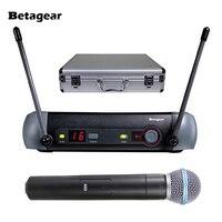 Betagear PXG24/58A профессиональный микрофон Системы караоке Беспроводной супер кардиоидный PXG uhf микрофоны ручной микрофон Microfono Mic