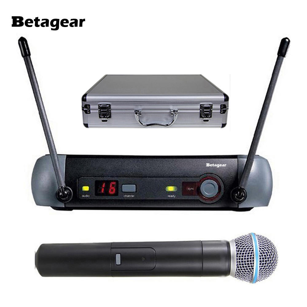 Buy Betagear PXG24/58A Professional Microphone System Karaoke Wireless Super Cardioid PXG uhf mics Handheld Microfone Microfono Mic for $107.88 in AliExpress store