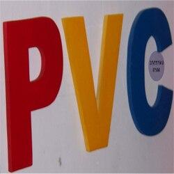 Letras pequeñas de PVC para decoración de tienda, letras del alfabeto, para exteriores o interiores