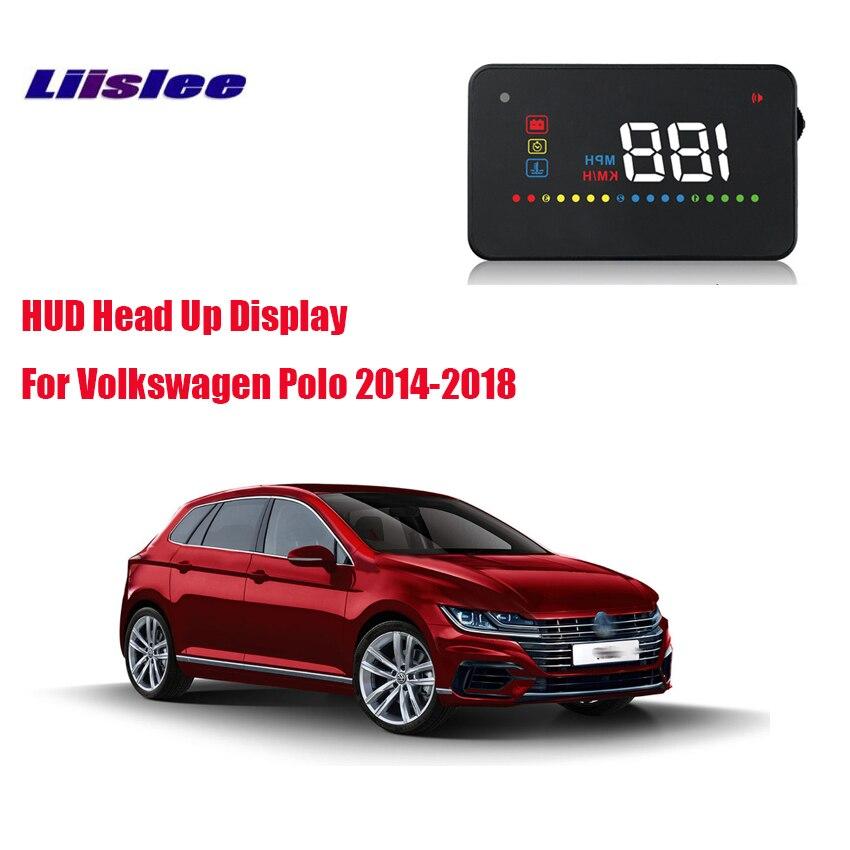 Liislee voiture HUD affichage tête haute OBD2 Interface A200 pour Volkswagen Polo 2014-2018 rappeler la vitesse de voyage