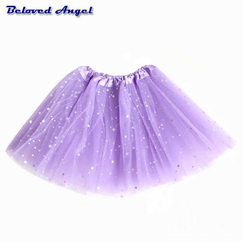 cce9c13c0 2 t-T 8 t niños niña estrella brillo danza tutu falda lentejuelas con 3  capas tul tutú niño princesa niña Ballet chifón pettiskrit