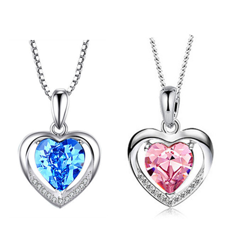 hot sale new arrive fashion necklace 925 sterling silver necklace for couple HH01