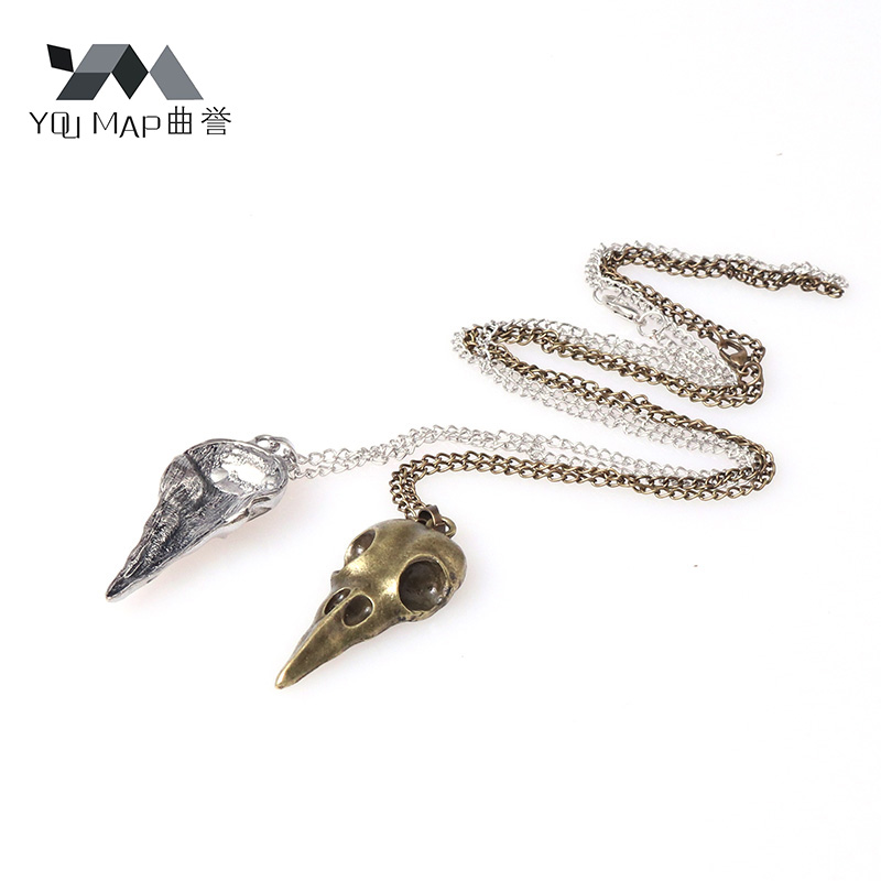 Punk Jewelry Alloy Elastic Bands Crow Skeleton Hair Accessories Fashion Nest Bird Head Skull Hair Tie Holder