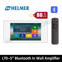 5 «класса D усилитель с сенсорным экраном, Bluetooth в стене домашний аудиоусилитель, цифровая стереосистема, TF/музыкальный плейер с интерфейсом USB