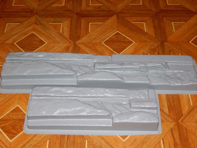 Plastic Molds for Concrete Plaster Wall Stone Slate No3 BEST PRICE Tiles for Garden Decoration Wall Decoration 2pcs BEST PRICE!!