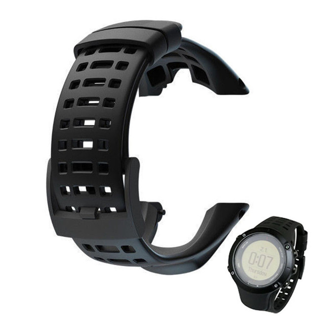 Factory price  Luxury Rubber Watch Replacement Band Strap For Suunto Ambit 3 Peak / Ambit 2 Oct12 Drop Shipping