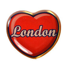 Wholesale New Style Love London Epoxy Lapel Pin Badge  low price custom Heart Shaped FH680087