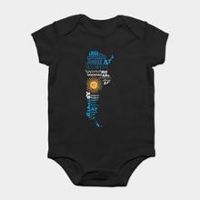 884b9c444 Bodysuits do bebê Macacão Bebê criança camiseta Argentinien Arg Inter  Argentina Mapa Marinha Lenda Soccers Jogador de Futebol Am..