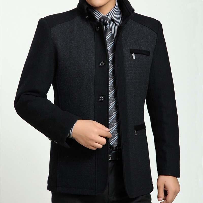 2015 Winter High Quality Men s Woolen Coats Business Casual Overcoat Fashion Wool coat men Windbreaker