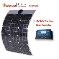 DOKIO Brand Flexible Solar Panel 50W Monocrystalline Silicon Solar Panels China 18V 730*500*25MM Size Top Quality painel solar