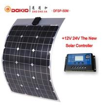 DOKIO Marque Flexible Panneau Solaire 50 W Silicium Monocristallin Panneaux Solaires Chine 18 V 730*500*25 MM taille Top Qualité painel solaire